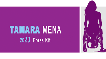 image with logo and words Tamara Mena Press Kit 2020