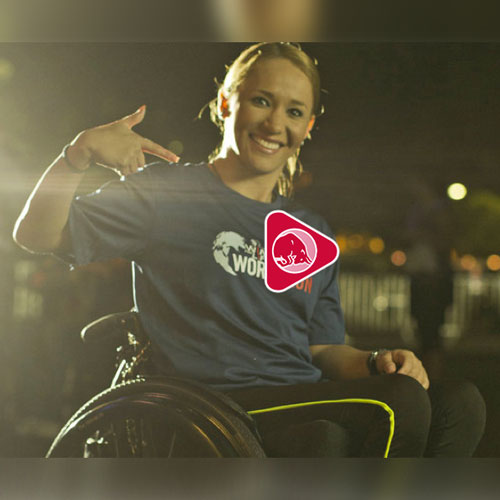 Tamara participating in Wings for Life World Run