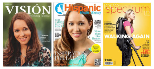 Tamara on the cover of Vision, Hispanic, and IEEE Spectrum