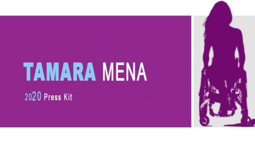 """Banner (featured image) for Press Kit with text """"Tamara Mena Press Kit 2020"""""""