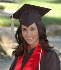 Photo of Tamara on graduation day