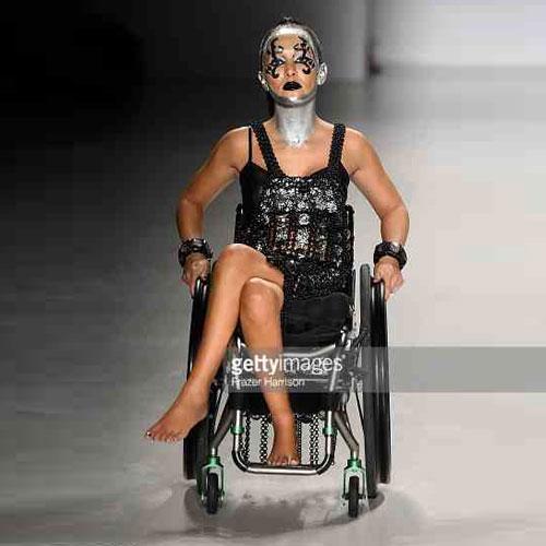 Tamara on runway at New York Fashion Week